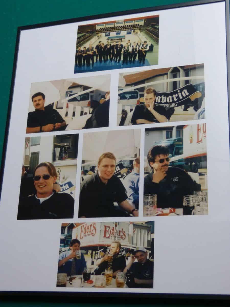 Ein altes Mannschaftsbild von 1996 mit Klaudio, Björn Thelen, Thomas Engert, Eric Tombeux, Andreas Vondenhoff, Jörg Gutowski und Rene Franzen