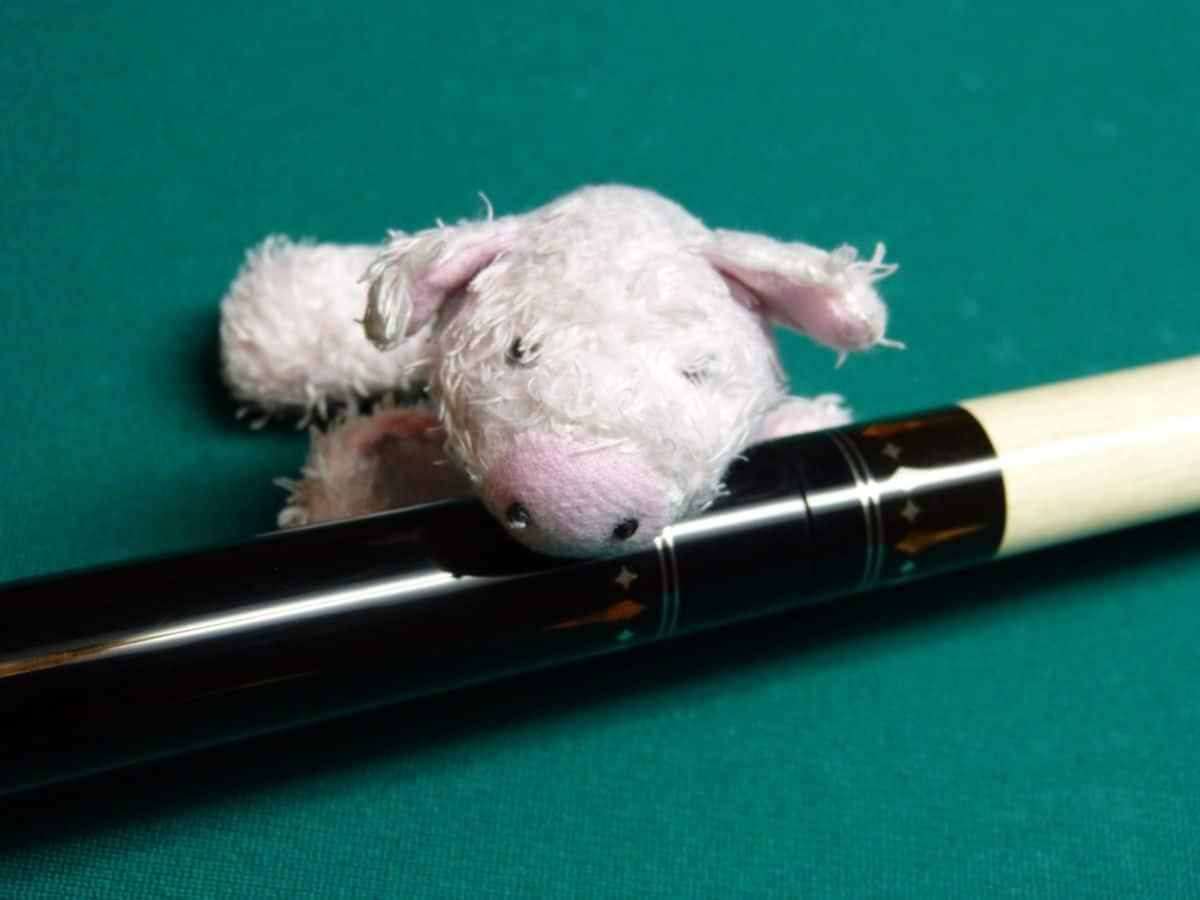 Und abschließend, der Glücksbringer...das rosa Schweinchen ;-)
