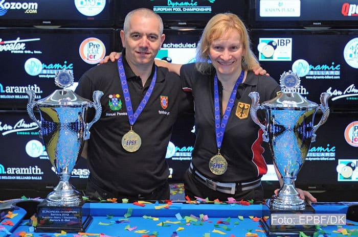 8-Ball Gold Medalists Manuel Pereira and Susanne Wessel