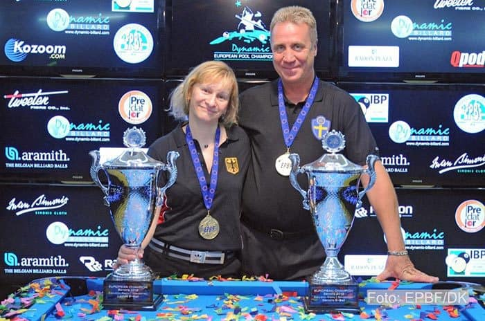 9-Ball Champions Susanne Wessel and Tom Storm