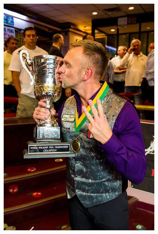 Thorsten Hohmann has become the first player to win the World Tournament 14.1 3x in this century