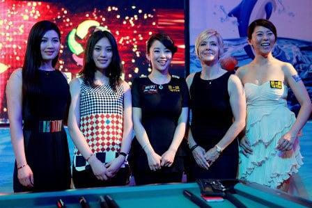 From left: Fu Xiaofang, Liu Shasha, Pan Xiaoting, Allison Fisher, Ga Young Kim