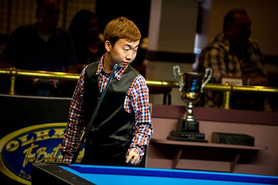 19 year old Wang Can's first ever 14.1 tournament has already yielded him an undefeated record including over Oliver Ortmann, 2x World Champion