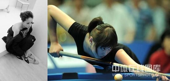 Beautiful and deadly . Tsai is a perfect combination of an Asian women's professional pool player