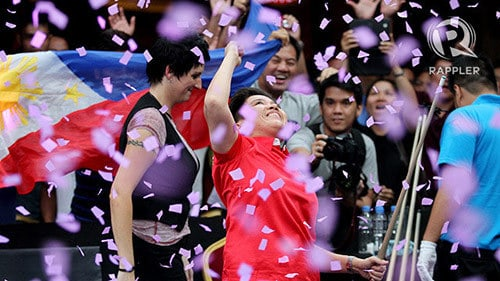 Amit became the first ever Two times World 10-Ball Champion for men or women -  Photo by Kapitan of anyare.com