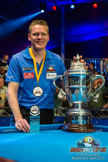MVP Niels Feijen (NED) - Photo: JP Parmentier/Matchroom Sport 2013