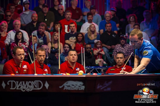 2013 PartyPoker.net Mosconi Cup - Europe in Day One rout