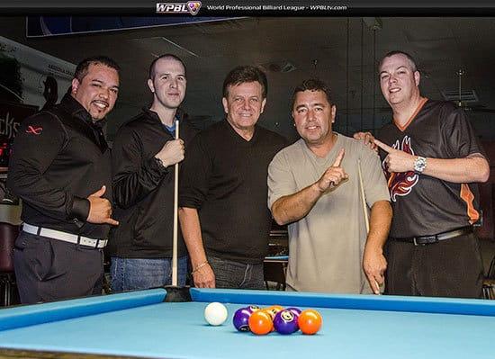 Rodney Morris, Lenny Marshall, Larry Chiborak, Ed Gonzalez, Scott Frost - Photo Credit Mike Brown/WPBL