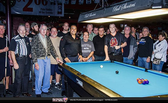 Group photo incl.  (L-R) Rodney Morris, Larry Chiborak, Scott Frost - Photo Credit Mike Brown/WPBL