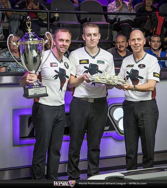 Minnesota Team Trophy: Thorsten Hohmann, Jesse Engel, Ralf Souquet - Photo credit Mike Brown/WPBL