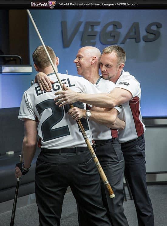 Minnesota Team:  Jesse Engel, Ralf Souquet, Thorsten Hohmann - Photo credit Mike Brown/WPBL