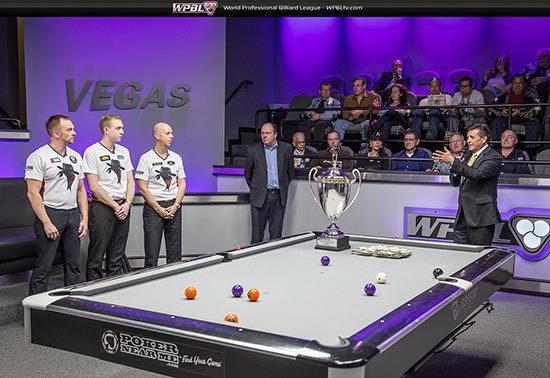 Trophy Presentation:  Thorsten, Jesse Engel, Ralf Souquet, Steve Strain, Larry Chiborak - Photo credit Mike Brown/WPBL
