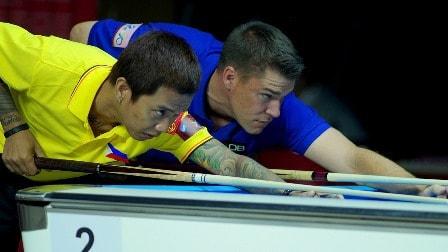 The Philippines Lee Vann Corteza beat the USA's Corey Deuel in a Thriller, 8-7
