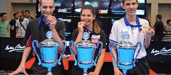 Joshua Filler (GER), Kamila Khodjaeva (BEL) & Maksim Dudanets (RUS)