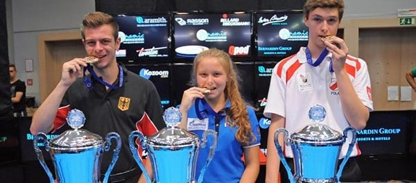 Raphael Wahl (GER), Kristina Tkach (RUS) & Daniel Maciol (POL)