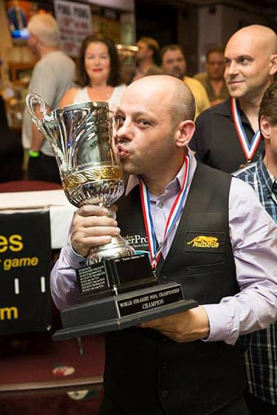 Appleton will have his name inscribed onto the World 14.1 Cup alongside Mosconi, Greenleaf, Mizerak, & all the past legends.