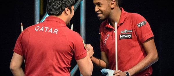 Team Qatar Bashar Hussain and Waleed Majid