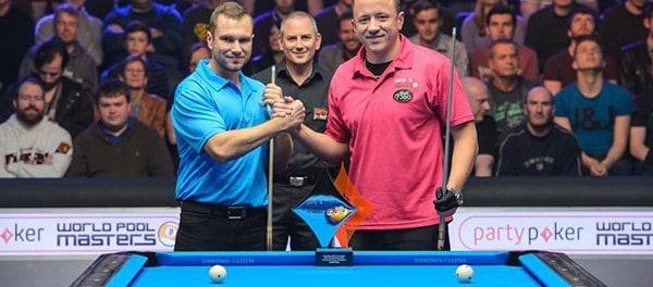 Nikos Ekonomopoulos (GRE) and Shane Van Boening (USA) - Photo: JP Parmentier