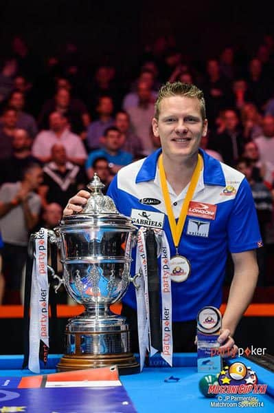 Mosconi Cup XXI MVP Niels Feijen (Team Europe)