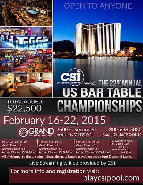 2015 US Bar Table Championship