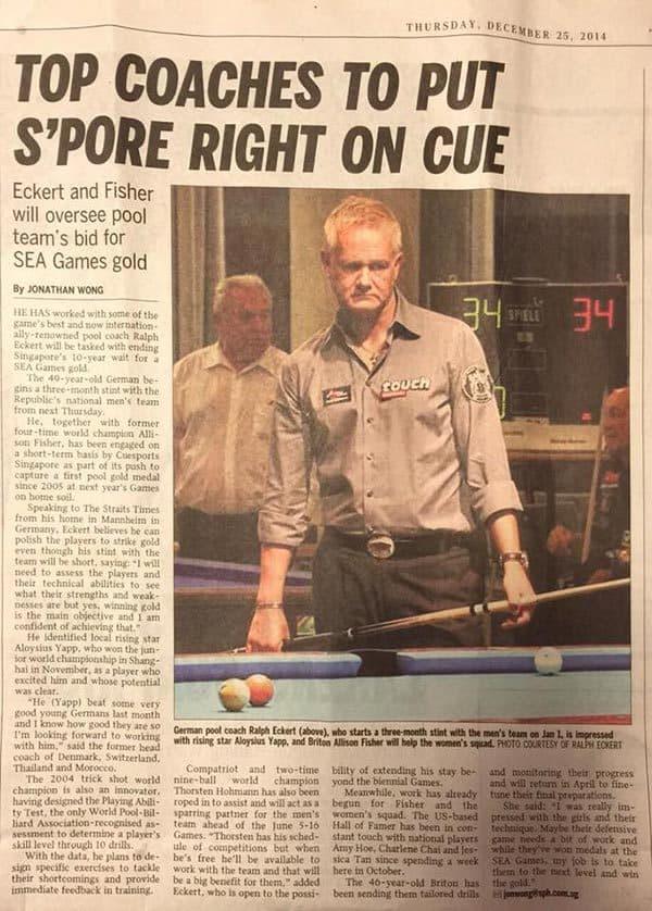 Ein Artikel der Singapore Times