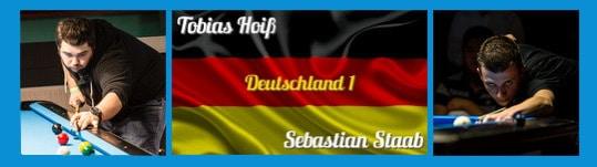 Team Deutschland 1 Tobias Hoiß und Sebastian Staab