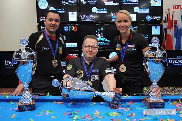 Francisco Diaz (SPA), Jouni Tahti (FIN) and Jasmin Ouschan (AUT)