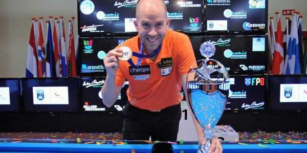 Nick van den Berg (NED) European Straight Pool Champion 2015