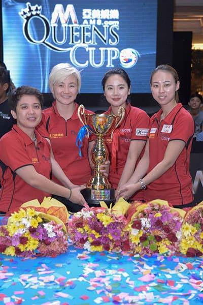 Queens Cup 2015 Team Asia - Rubilen Amit (PHI), Jennifer Chen (TPE), Eunji Park (KOR) and Chen Siming (CHN)