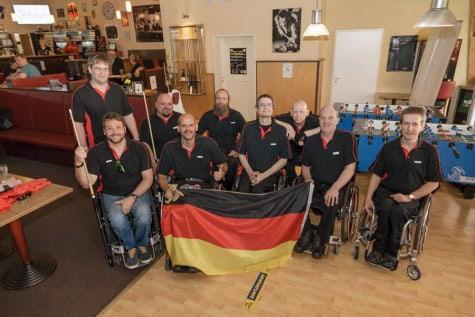 Gastgeber-Team DBU-Rollstuhlfahrer