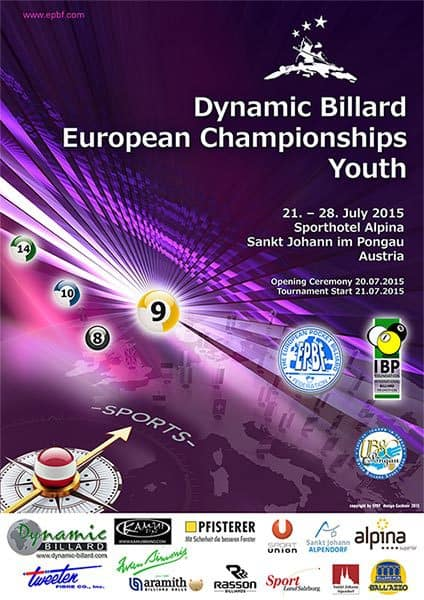 Dynamic Billard European Championships Youth 2015