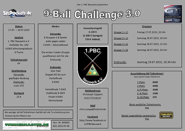 9 Ball Challenge 3.0 Neuwerk 2015