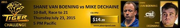 Tiger Challenge - Shane Van Boening vs. Mike Dechaine