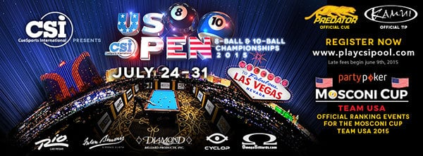 US Open 8 Ball & 10 Ball Championships 2015
