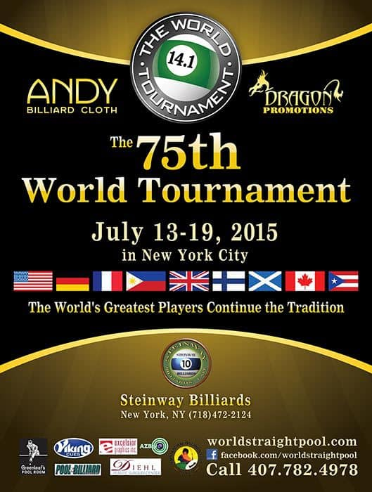 75th World Tournament of 14.1 2015