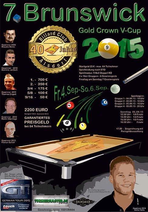 7. Brunswick Gold Crown V Cup 2015