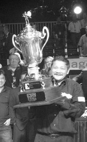 Bata after winning $500,000 from the World 8-Ball Open, which till this day is the largest payday of any billiard event in history.