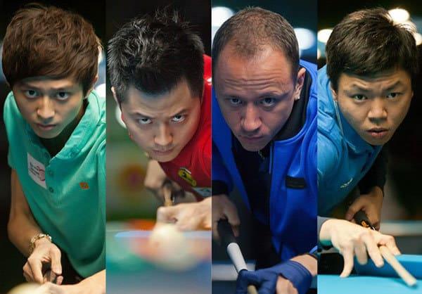 Ko Ping-Chung (TW), Ko Pin-Yi (TW), Shane Van Boening (USA) and Wu Jiaqing (CHN) - Photo: Richard Walker & WPA