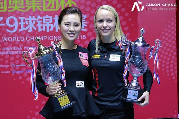Liu Shasha (CHN) and Jasmin Ouschan (AUT)