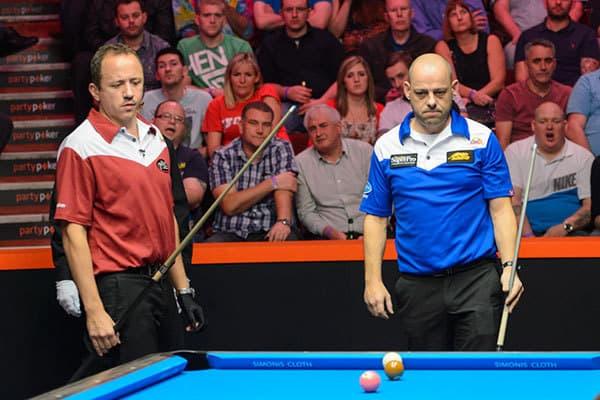 Shane Van Boening (USA) & Darren Appleton (GBR) - Photo: Matchroom Sport/JP Parmentier