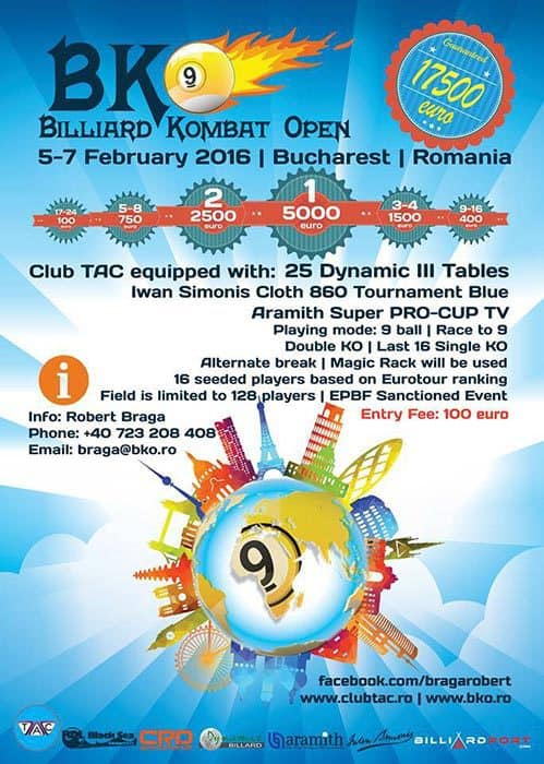 Billiard Kombat Open 2016