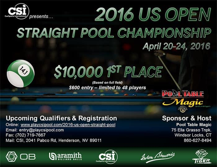 2016 US Open Straight Pool Championship