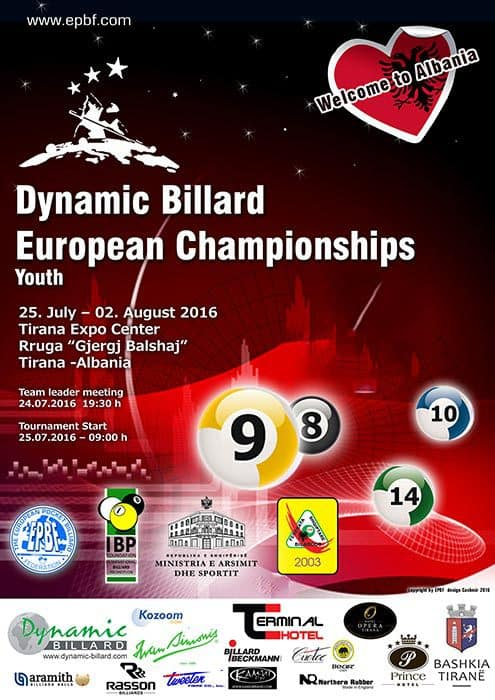 Dynamic Billard European Championships Youth 2016