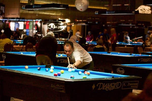 The legendary Francisco 'Django' Bustamante is among the undefeated players at the 2016 US Open 8-Ball Championships at the Rio All-Suite Hotel & Casino in Las Vegas. The tournament continues through Monday.