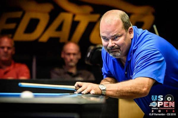 "Rodney ""The Rocket"" Morris, of California, earned the hot seat of the US Open 10-Ball Championship Thursday at the Rio All-Suite Hotel & Casino in Las Vegas. Morris, who received word this week that he would be inducted into the Billiard Congress of America's Hall of Fame, is hoping to add another prestigious title to his impressive resume. PHOTO COURTESY OF CUESPORTS INTERNATIONAL."