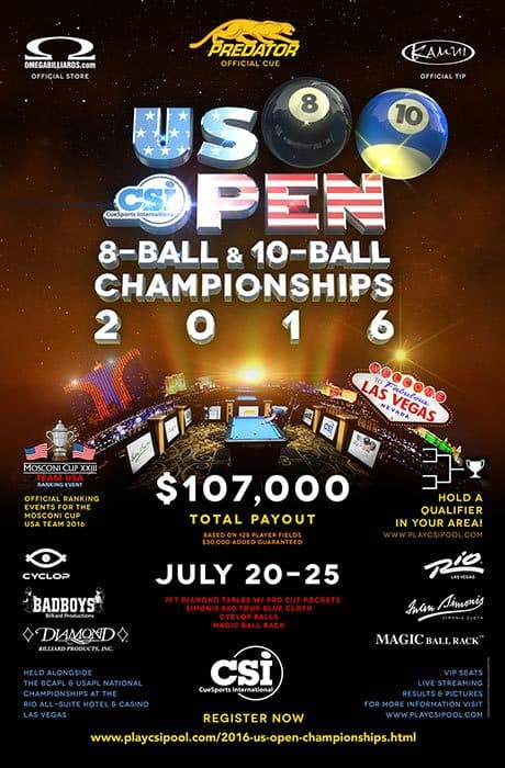 US Open 8 Ball & 10 Ball Championships 2016
