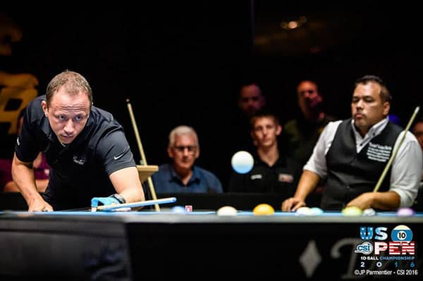 Shane Van Boening (USA) and Rodney Morris (USA) - PHOTOS COURTESY OF JP PARMENTIER & CUESPORTS INTERNATIONAL.
