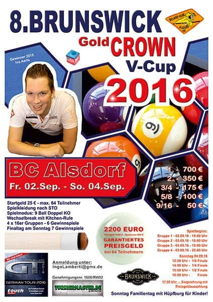 8. Brunswick Gold Crown V Cup 2016