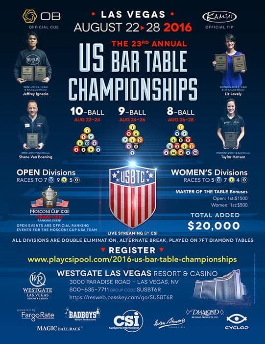 2016 US Bar Table Championships