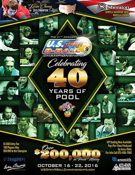 US Open 9 Ball Championships 2016
